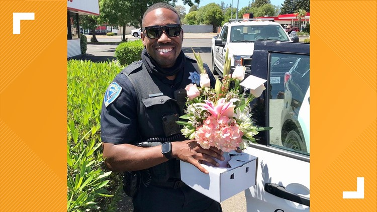 Fairfield police take up flower deliveries after driver was busted for DUI, police say