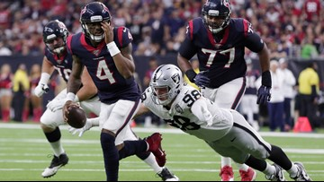 Watson's 3 TD passes lead Texans over Raiders 27-24