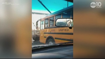 School bus stops just inches from fast-moving freight train, Lodi school district investigating