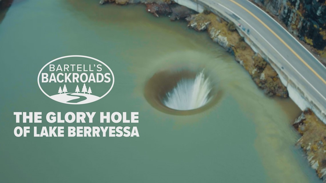 The Glory Hole and the town below Lake Berryessa   Bartell's Backroads