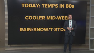 Local afternoon forecast: May 13, 2019
