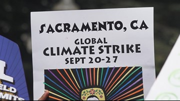 Teens call for 'climate action' at California Capitol