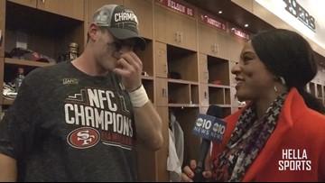 San Francisco 49ers celebrate NFC Championship | Ross Dwelley