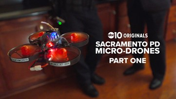 Sacramento Police Department rolling out cutting edge micro-drones   Part 1 of 2