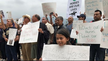 Workers urge legislators to keep Santa Anita open