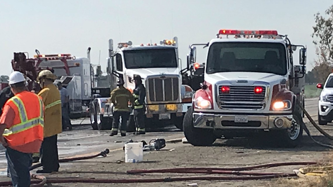 Two people killed in fiery 8-vehicle accident on I-5 in Lodi, CHP