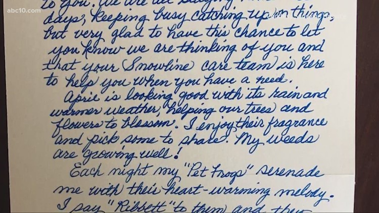 Hospice group asking community to write uplifting letters to isolated patients
