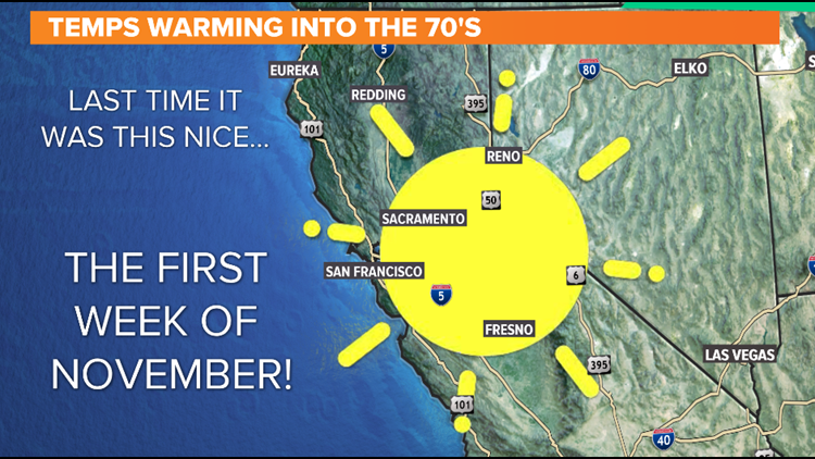 Temps Warming Into The 70's