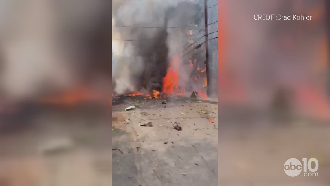 Jet crashes near Ponderosa Golf Course in Truckee | Raw Video