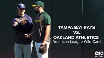 Oakland A's prepare to host Tampa Bay Rays in AL Wild Card Game