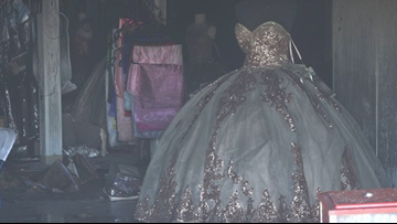 'This is my livelihood' | Modesto party supply store loses more than 3,000 dresses in fire