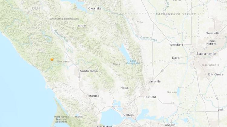 3.2 magnitude earthquake reported in Sonoma County