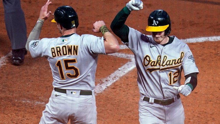 A's hit four homers to back Montas, beat Twins 6-1
