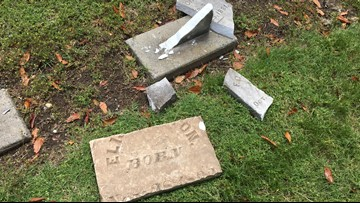 Sacramento cemetery vandalized, may cost up to $8,000 to repair