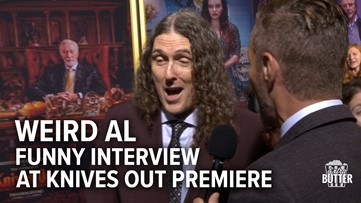 Weird Al Funny Interview at Knives Out Premiere   Extra Butter