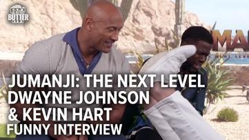 Jumanji: The Next Level   Dwayne Johnson & Kevin Hart Funny Interview   Extra Butter