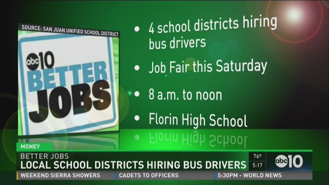 Better Jobs Local School Districts Hiring Bus Drivers Abc10 Com