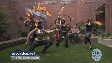Fire Dancers Bring the Heat to Sac&Co!