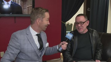 Mark S. Allen chats with actor Doug Hutchinson at California Capital Film Office