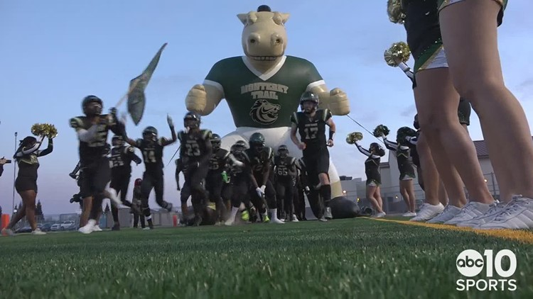 Monterey Trail Mustangs dominate Cosumnes Oaks Wolfpack 57-21