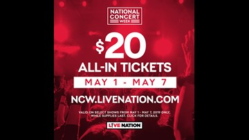 Win tickets to a Live Nation Concert of Your Choice!