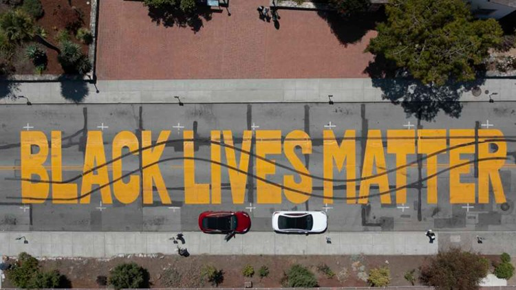 2 arrested over allegedly defacing BLM mural in Santa Cruz