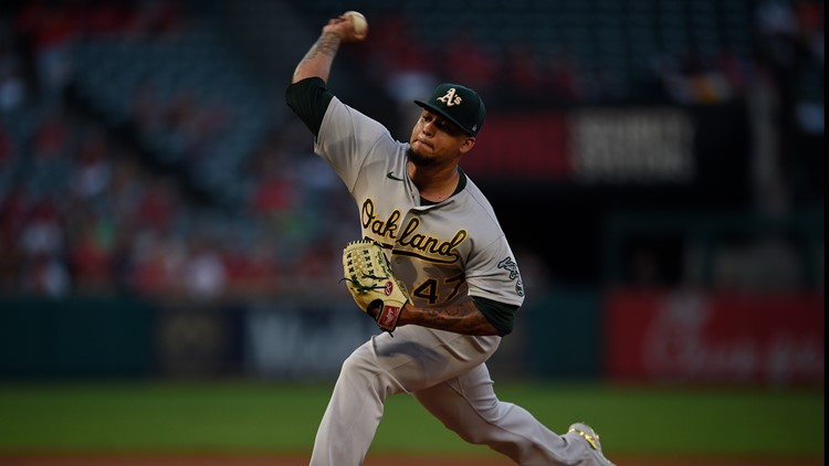 Montas records 10 strikeouts, Athletics beat Angels 4-0