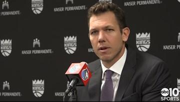 Sacramento Kings coach Luke Walton discusses OT victory over Denver Nuggets