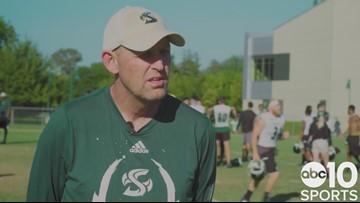 New Sacramento State football coach Troy Taylor previews season opener vs. Southern Oregon