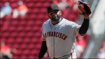 Bees swarm, Sandoval pitches, Giants fall 12-4