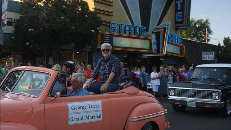 060619 george lucas in American graffiti parade.