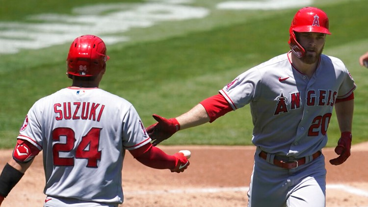 Walsh homers, Angels bullpen shines in 4-2 win over A's