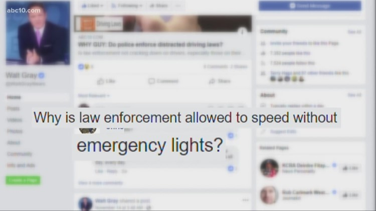 Why Guy: Why do police speed without lights?