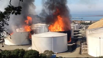Earthquake probed as possible cause of Bay Area fuel fire