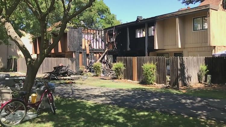 Davis apartment fire