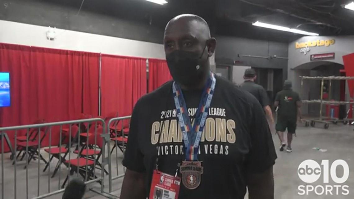 Sacramento Kings coach Bobby Jackson talks about winning the NBA Summer League title in Las Vegas