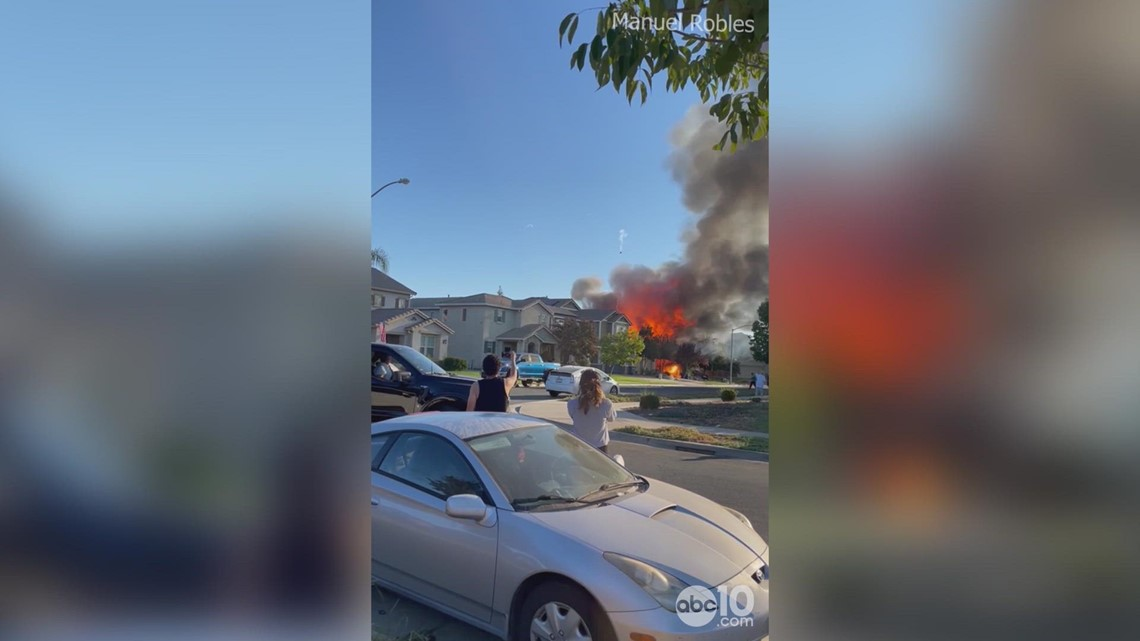 Suspected honey oil lab explosion in Merced