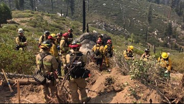 Firefighters notch more than 50% containment on largest wildfire of 2019 | Walker Fire update
