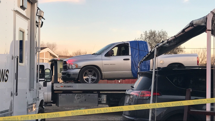 Suspect vehicle recovered outside of Newman