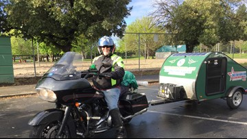 Riding on a dream: Texas man rides motorcycle across the country to raise diabetes awareness