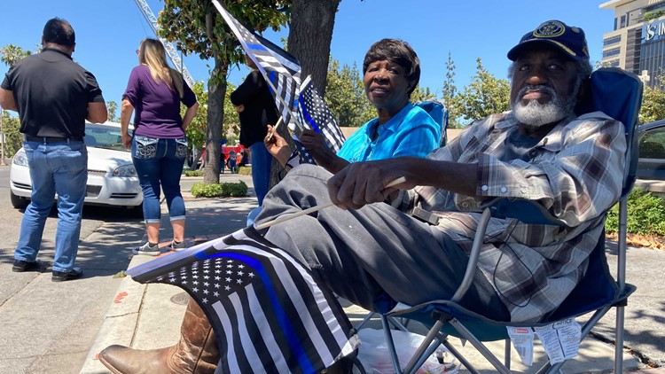 'Today is our day to return the favor' | Stockton shows solidarity for Officer Jimmy Inn