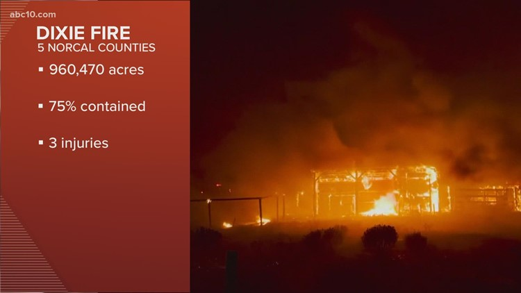 Tuesday morning wildfire updates: Caldor Fire and Dixie Fire