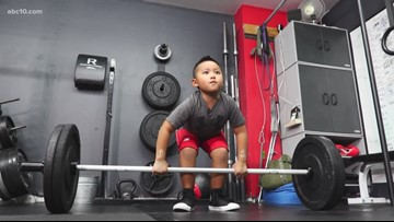 6-year-old Rancho Cordova power lifter is 'Insta' famous
