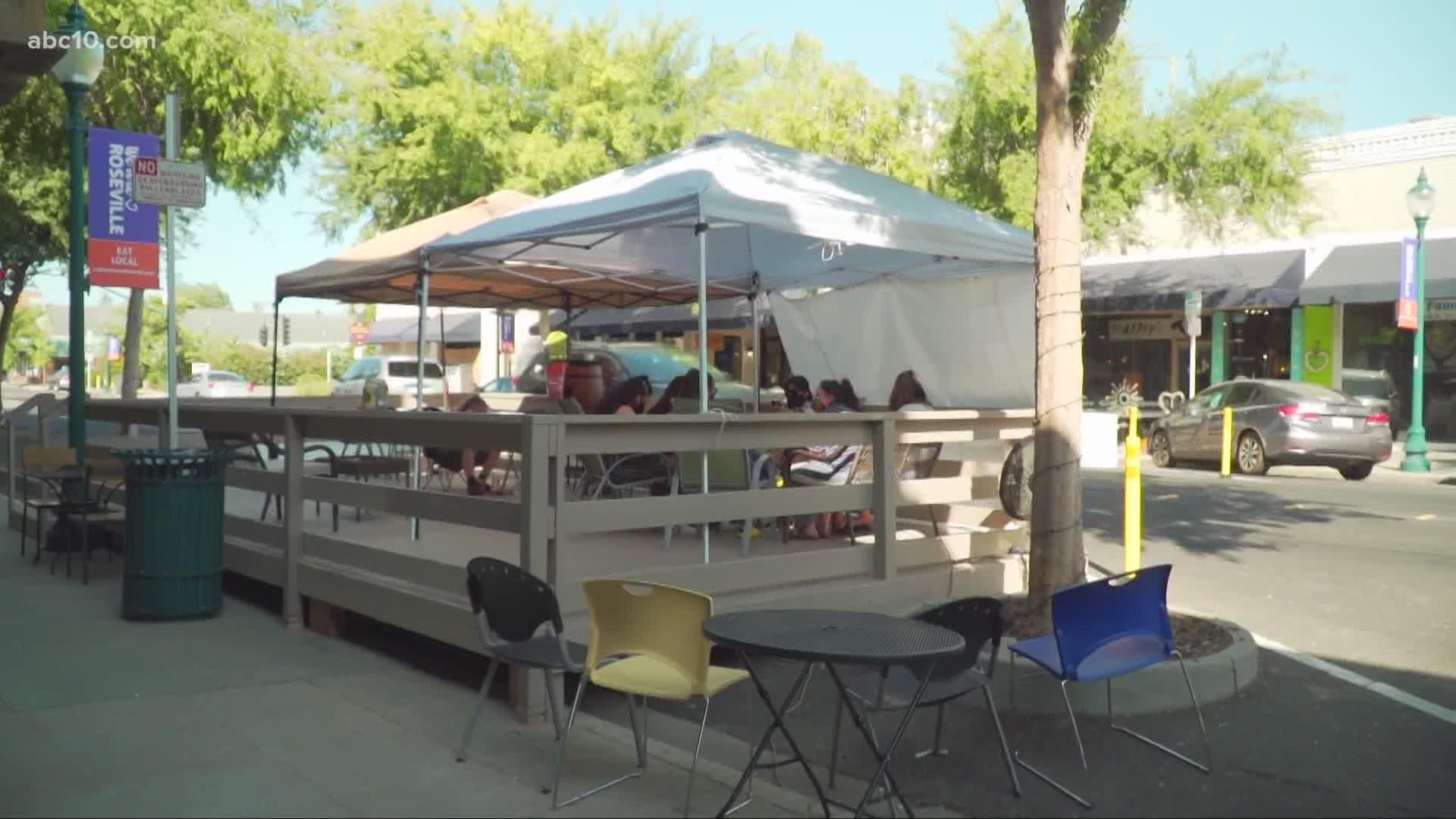 Restaurants Open Christmas 2020, Roseville Ca Roseville builds patio decks to help businesses stay open | abc10.com