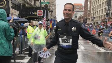Modesto Police detective runs Boston Marathon in full uniform in memory of fallen officers