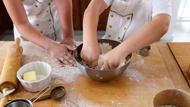 Cooking is a great teaching tool for kids