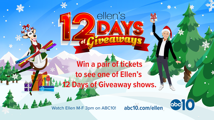 Ellen 12 Days of Giveaways Sweepstakes
