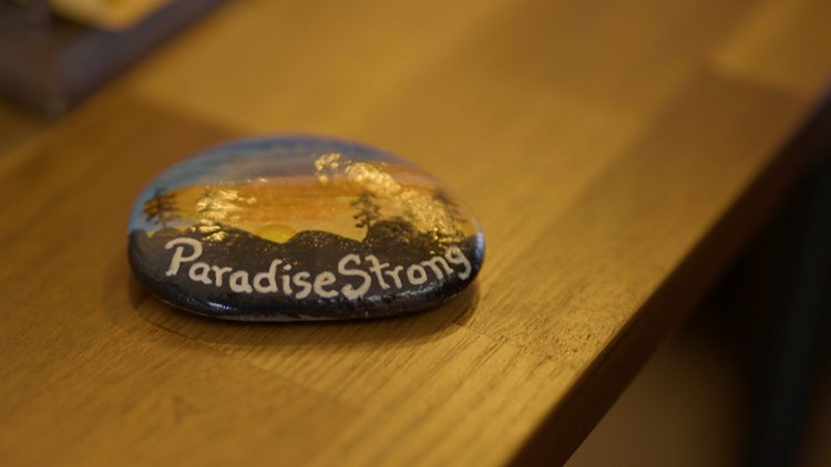 Paradise Strong rock sits on Chico City Manager's desk