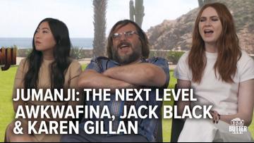 Jumanji: The Next Level   Awkwafina, Jack Black, Karen Gillan Interview & song   Extra Butter