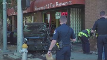 Crash at Sacramento's 12th, I Street leaves 8 injured, restaurant damaged